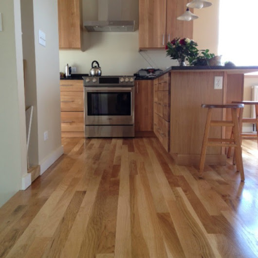 WHITE OAK WOOD FLOOR ON MUNJOY HILL IN PORTLAND MAINE - Traditional - by ATLANTIC HARDWOODS