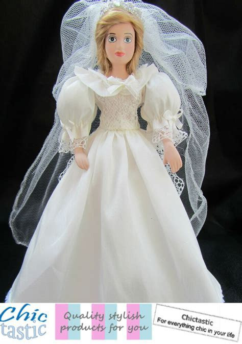 Diana Princess of Wales porcelain Royal bride wedding doll