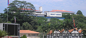 Part of Bukit Aman's police facilities, as see...