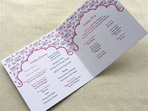 Sample Wording: What Goes in a Wedding Program   Imbue You