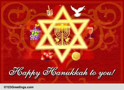 Chanukah, Oh Chanukah  Free Religious Blessings eCards