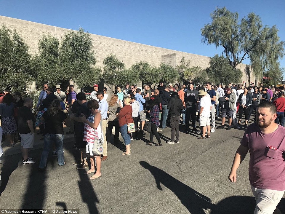 Hundreds of people have been lining up to donate blood in Las Vegas