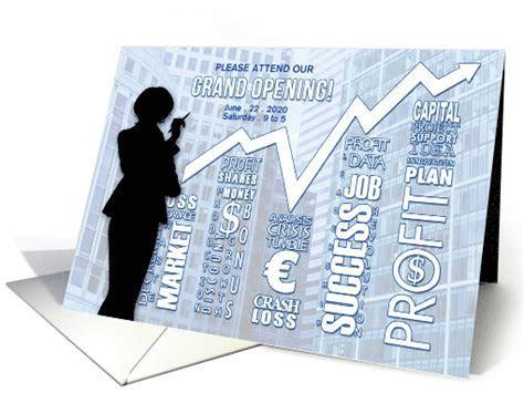Grand Opening Business Invitation Woman Presentation card
