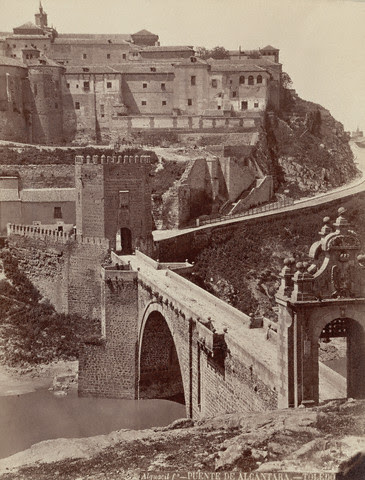 Puente de Alcántara hacia 1880 por Casiano Alguacil. Image by © Alinari Archives/CORBIS