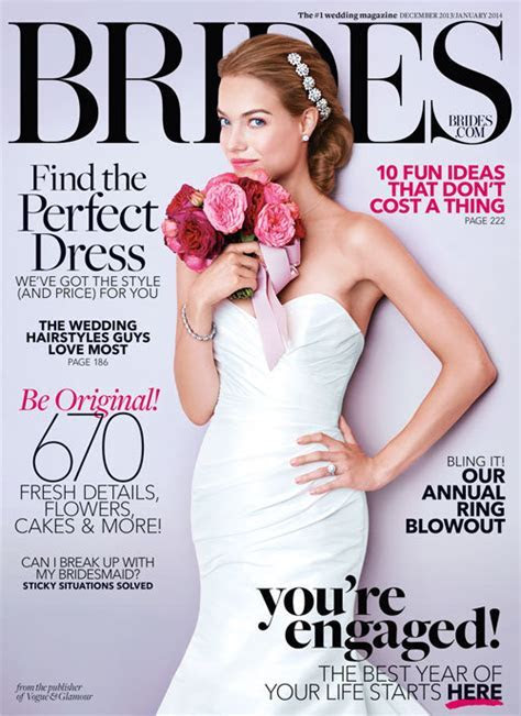 BRIDES Magazine Cover For Blush!   JLM Couture