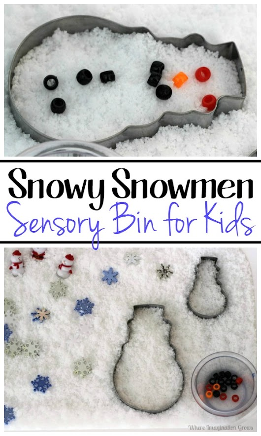 Christmas Snowman Sensory Box {Read & Play} - Where Imagination Grows