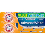 Arm & Hammer Advance White Extreme Whitening Baking Soda & Peroxide Toothpaste - 12oz/2pk