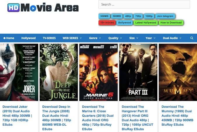 Hdmoviearea – 300MB Movies, 480p Movies, 720p Movies – Dual Audio HD Movies