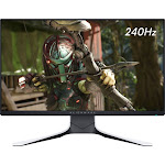 """Alienware - AW2521HFL 24.5"""" IPS LED FHD FreeSync and G-SYNC Compatible Monitor (DisplayPort, HDMI, USB) - Lunar Light"""