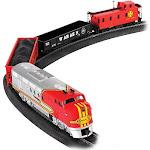 Bachmann Trains Santa Fe Flyer HO Scale Ready-to-Run Electric Train Set   647-BT by VM Express