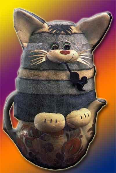 Поделка Грелка на чайник (кот)