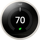 """Nest Learning 3rd generation Automatic Thermostat 2.08"""" - with LCD Display - Wi-Fi/Bluetooth 4.0 LE/802.15.4 - Android/iOS - White"""