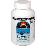 Essential Enzymes By Source Naturals - 120 Capsules