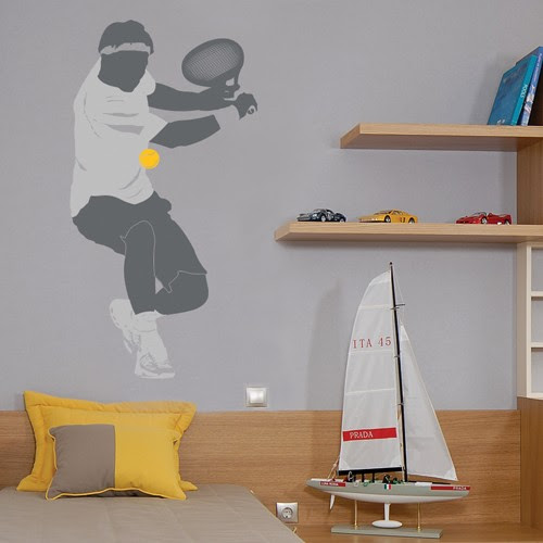 Tennis Player Wall Decal - Sport Wall Stickers - CoolWallArt