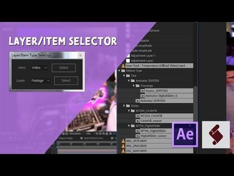 Cara Membuat Layer Atau Item Type Selector Di After Effects Menggunakan Exptenscript