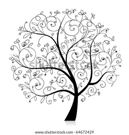 rwee406rib: tree silhouette art