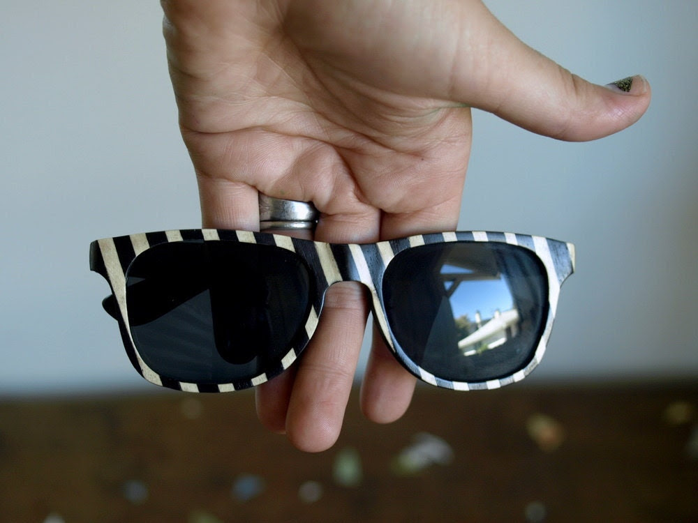 Peewee Herman Inspired Wooden Sunglasses // no. 53