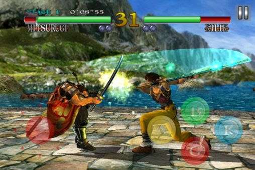 Screenshots of the Soulcalibur for Android tablet, phone.