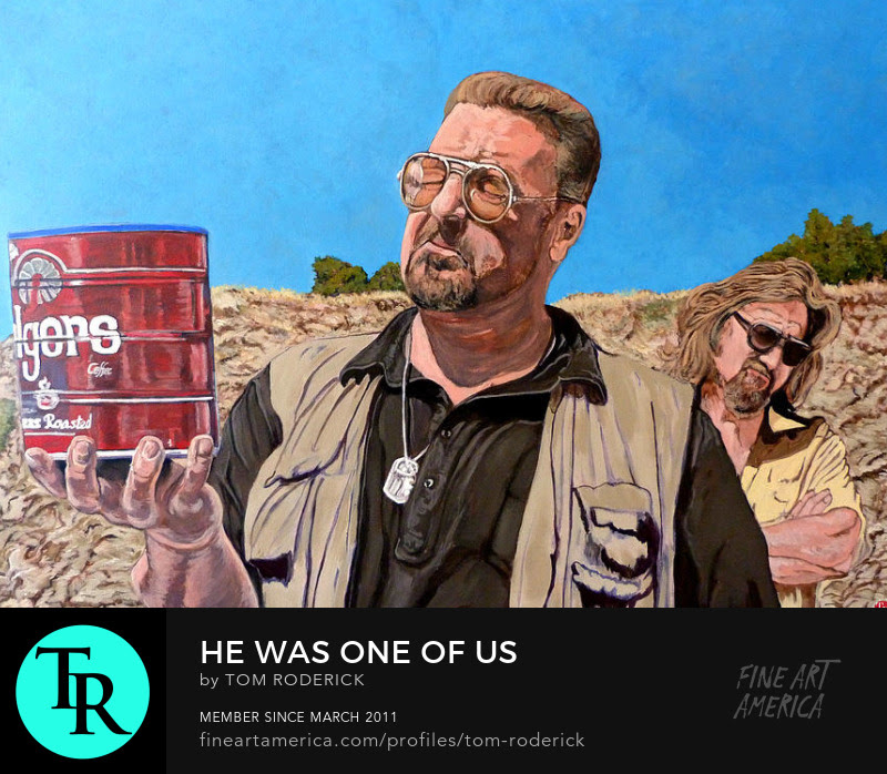 He Was One of Us painting by Boulder artist Tom Roderick