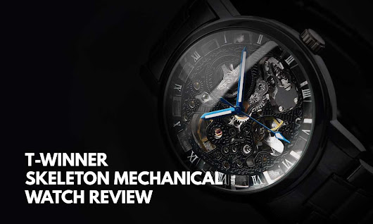 T-WINNER Black Skeleton Mechanical Watch Review - Infinity Timewatch