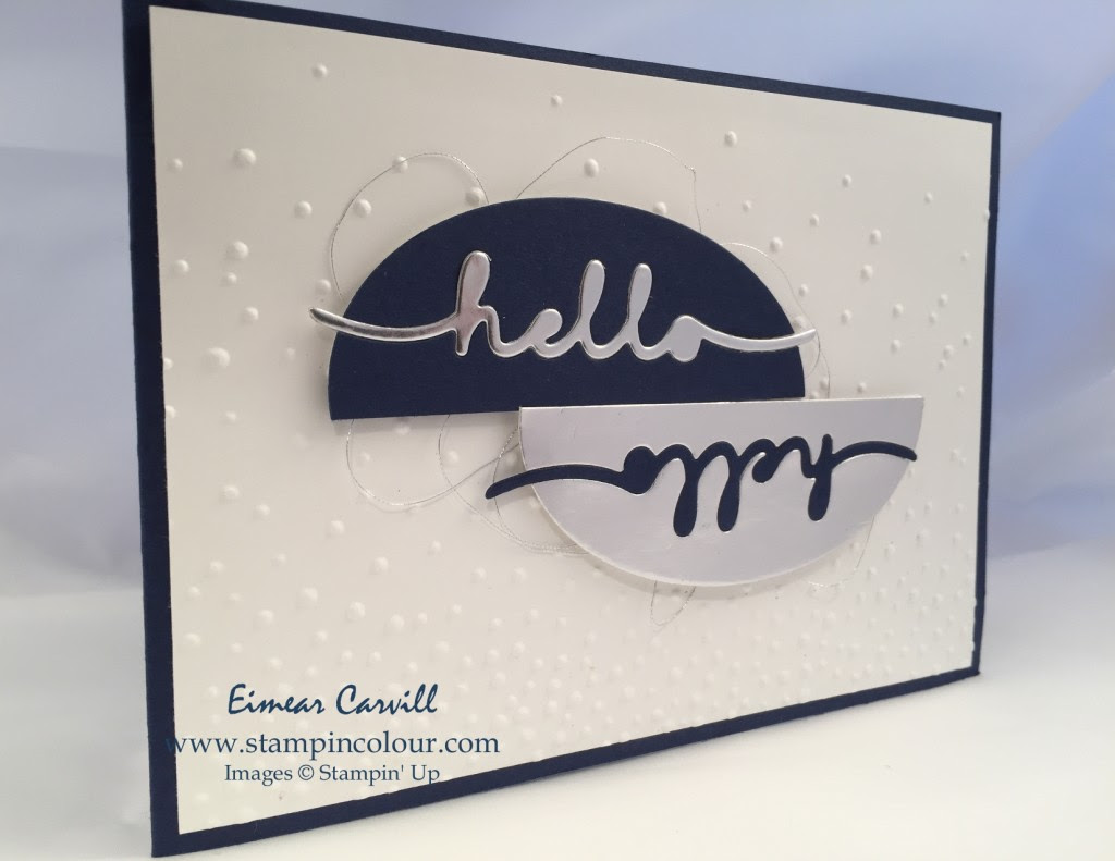 Stampin Up Greetings Thinlits CAS #152-001