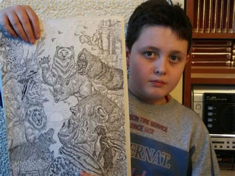 year  boy creates amazingly detailed nature drawings