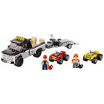 LEGO City Great Vehicles ATV Race Team Truck, 4 Wheeler Building Set Kit 60148