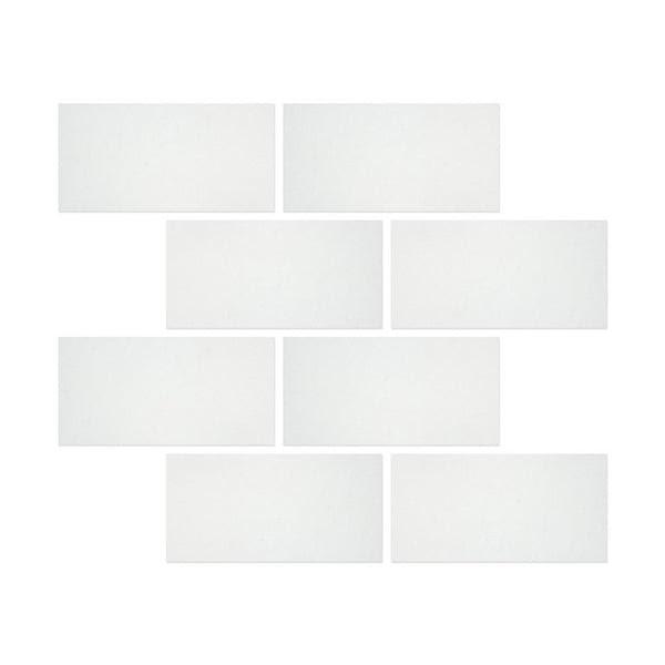 6 X 12 Thassos White Marble Subway Brick Field Tile Honed