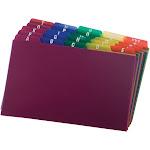 Oxford Card Guides, Alpha, 1/5 Tab, Polypropylene, 5 x 8, 25/Set,