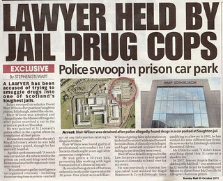 Lawyer held by jail Drug Cops Sunday Mail 09 October 2011