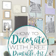 Decortaing with Free Printable Art | A Shade Of Teal
