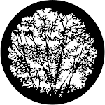 Leafy Branches 1, Stock Gobo For Gobo Light Projectors, Choose Your Size | Event Decor Direct