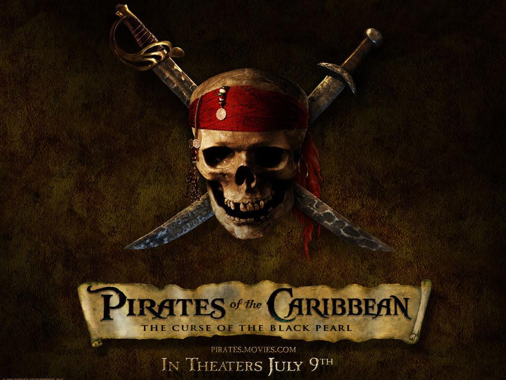 Pirates Of The Caribbean Pirate Skull Desktop Wallpaper