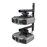 Crimson AV JKTWIN Stacked Projector Mount with JR3 Universal Adapter