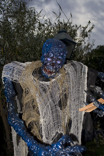 Blue man goop