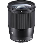 Sigma Contemporary Lens for Sony E-Mount - 16mm - F/1.4 - Black
