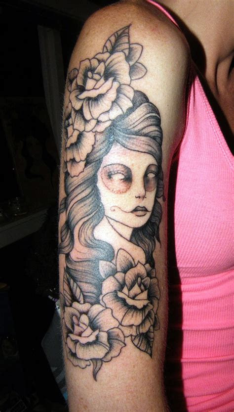girl tattoos arm cool tattoos bonbaden