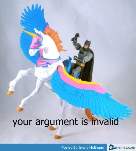 Image result for batman unicorn argument invalid