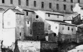 Mesón del Sevillano hacia 1870. Detalle de una fotografía de Jean Laurent