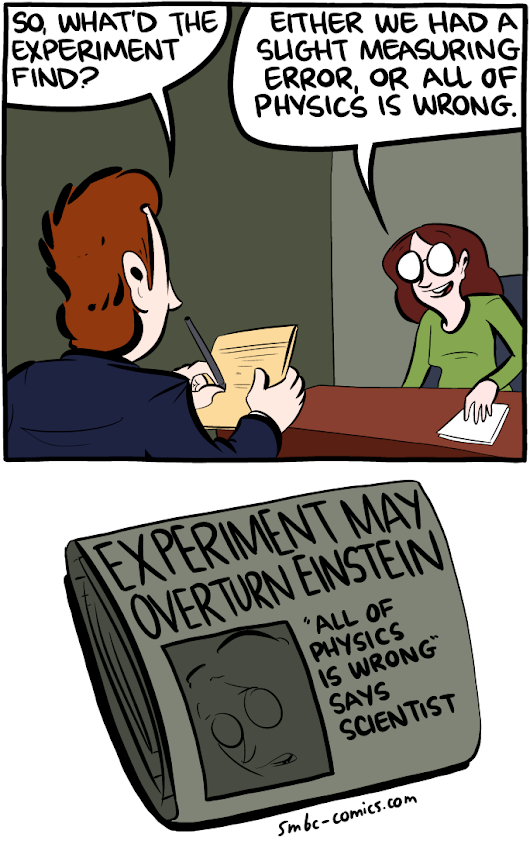 Saturday Morning Breakfast Cereal - Science Journalism
