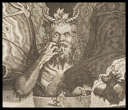 Lucifer (detail) by Balthasar Caymox