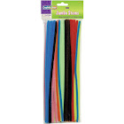 """Chenille Kraft Wire Pipe Cleaners, Jumbo, 0.25"""" x 12"""", Assorted Colors - 100 pack"""