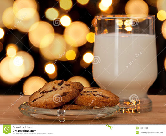 Christmas Cookies And Milk Stock Photos - Image: 32850923