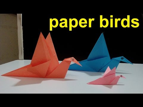 How To Make A Paper Birds That Can Fly Paper Craft Paper Craft