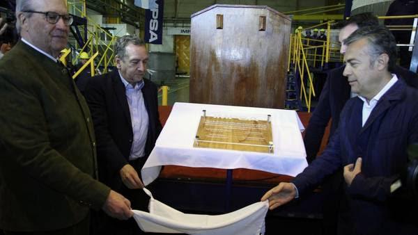 enrique Pescarmona, el ministro Lino Barañao y el gobernador Alfredo Cornejo, en la inauguración de la planta de la metalúrgica. Foto: Delfo Rodriguez
