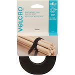 VELCRO Brand ONE-WRAP Roll 12ft x 3/4in Roll, Black
