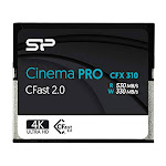 Silicon Power 256GB CFast2.0 CinemaPro CFX310 Memory Card, 3500X and up to 530MB/s Read, MLC, for Blackmagic URSA Mini, Canon XC10/1D X Mark II and