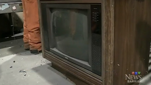 $100,000 found inside old TV at Ontario recycling plant
