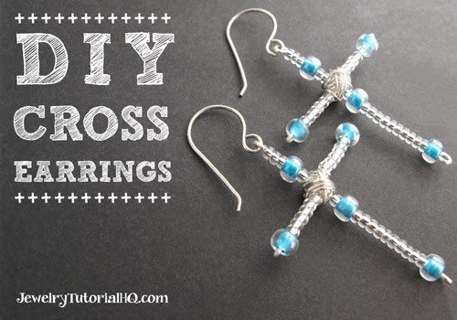 DIY Cross Earrings Tutorial- JewelryTutorialHQ