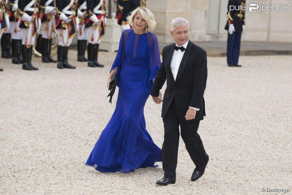 Claude Bartolone et sa femme Véronique Bartolone lors du banquet à l'Elysée donné en l'honneur de la reine Elizabeth II, Paris, le 6 juin 2014.